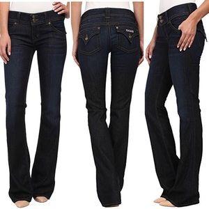Hudson dark wash signature bootcut jeans 27